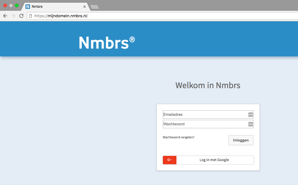 Log-in Nmbrs