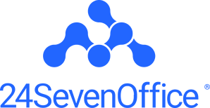 Vertical logo blue