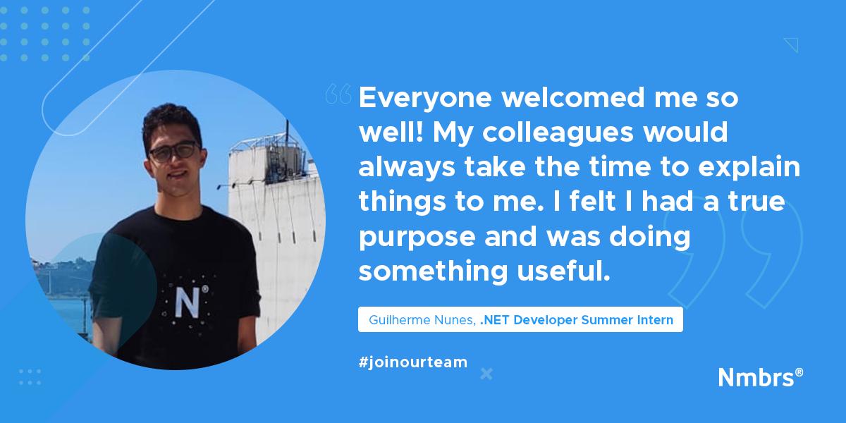 nmbrs-summer-internship-estagio-de-verao-tech-developer-guilherme-nunces